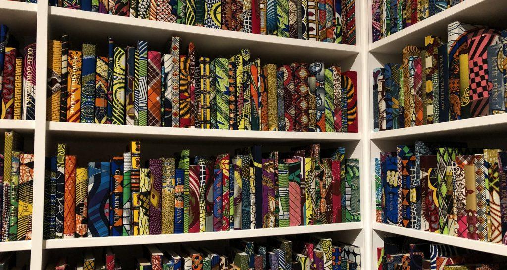yinka shonibare the british library installation